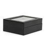 The Quirk Box Premium 6 Slots Leather Black Watch & Jewellery Box