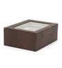 The Quirk Box Premium 6 Slots Leather Brown Watch & Jewellery Box
