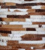 The Rug Republic Brown & White Natural Hide 18 x 18 Inch Tiago Cushion Cover with Insert