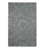 The Rug Republic Grey Wool & Viscose Indian Ethnic Hand Tufted Carpet