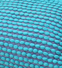 The Rug Republic Ocean Blue Polyester 24 x 18 Inch Rococco Cushion Cover with Insert
