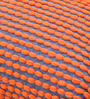 The Rug Republic Orange & Grey Polyester 24 x 18 Inch Rococco Cushion Cover with Insert