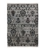 The Rug Republic Silver Viscose Hand Knotted Abstract Pattern Carpet