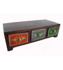 The Shopy Multicolour MDF Vintage Table Top Collectible with 3 Drawers