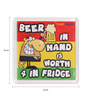Thoughtroad Multicolour Plastic & Paper Beer Quoted Fridge Magnet