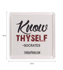 Thoughtroad Multicolour White Plastic & Paper Know Thyself Fridge Magnet