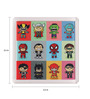 Thoughtroad Multicolour Plastic & Paper Super Heroes Fridge Magnet