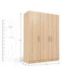 Three Door Wardrobe in Swiss Elm Finish in MDF by Primorati
