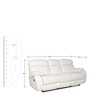 Three Seater Manual Recliner in White Colour by Sofab