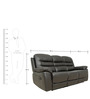 Three Seater Motorized Recliner Sofa in Half Leather Dark Brown Colour by Star India