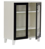 Keiko Three Shelf Storage Cabinet in Black and White Finish by Mintwud
