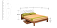Tiffany Queen Bed with Mattress in Walnut Brown by @Home