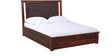 Benton King Bed with storage in Provincial Teak Finish by Woodsworth