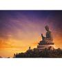Hashtag Decor Tian Tan Buddha Engineered Wood 30 x 20 Inch Framed Art Panel