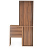 Tiffany Dresser with Mirror in Walnut & White Colour by @home