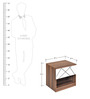 Tiffany Night Stand in Walnut & White Colour by @home