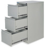 Titan Three Drawer Filing Cabinet in Grey Colour by Nilkamal