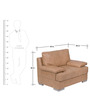 Toby One Seater Leatherette Sofa in Beige Colour by Home City
