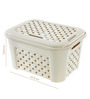 Tontarelli Arianna Polypropylene 23 L Ivory Small Laundry Basket with Lid