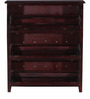 Osbert Shoe Rack in Passion Mahogany Finish by Amberville