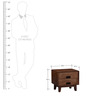 Milton Solid Wood Bed Side Table in Provincial Teak Finish by Woodsworth