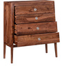 Sequim Sheesham Wood Chest Of Drawers in Warm Walnut Finish by Woodsworth