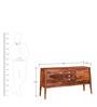 Sequim Sheesham Wood Sideboard in Warm Walnut Finish by Woodsworth