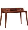 Toulouse Sheesham Wood Study & Laptop Table in Warm Walnut Finish by Woodsworth