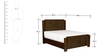 Transitional Walnut Finish Platform Queen Bed with High Headboard by Afydecor
