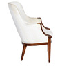 Traditional Accent Chair with Classic Design Details in White Colour by Afydecor