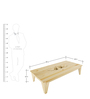 Treehouse Pine Wood Low Coffee Table by SmalShop