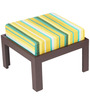 Trendy Coffee Table Set with Two Stools in Green Lines Colour by ARRA