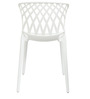 Trio Cafeteria Chair Set of Two in White Color By Attro