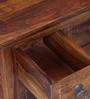 Trydelt Coffee Table cum Trunk in Provincial Teak Finish by Amberville