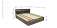 Tulip Queen Bed with Top storage in Dark Walnut Finish by Crystal furnitech