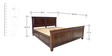 Tuscany King Bed with Storage in Warm Rich Finish by Inliving