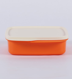 Tupperware Fun Meal Orange Plastic Lunch Box