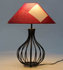 Tu Casa Red Poly Cotton Pyramid Lamp Shade