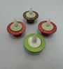 Tu Casa Green Plastic LED Tea Lights – - Set of 4