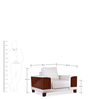 Tucson One Seater Sofa in White Colour by Durian