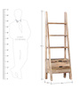 Tulsa Ladder Like Display Unit with Two Drawers in Natural Finish by Woodsworth