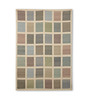 Tulsiram Rugs Multicolour Wool 90 x 63 Inch Geometric Carpet
