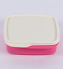 Tupperware Fun Meal Pink Plastic Lunch Box - set of 2