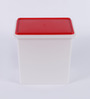 Tupperware White and Red 10 kg Rice/Grains/Flour Keeper with lid