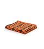 Turkish Bath Orange & Brown Cotton 30 x 58 Bath Towel