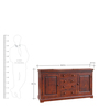 Tuscany Sideboard in Warm Rich Finish by Inliving