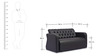 Two Seater Sofa with Tufted Back & Arm Rest in Black Colour by Durian