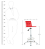 Twino Bar Chair in Red & White by The Furniture Store