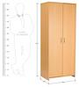 Etsuko Two Door Wardrobe in Beech Finish by Mintwud