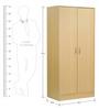 Nakazo Two Door Wardrobe in Beech Finish by Mintwud